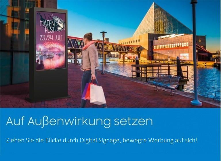 Digital Signage, Enstream, Samsung, Werbe-Begrüssungssoftware